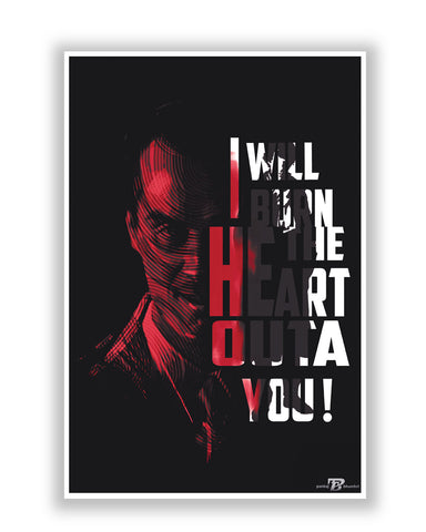 Buy TV Posters Online | I Will Burn the Heart Outta You Jim Moriarty Sherlock Holmes Poster | PosterGuy.in