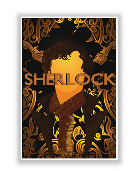 Buy TV Posters Online | Benedict Cumberbatch Sherlock Holmes Illustration Poster | PosterGuy.in