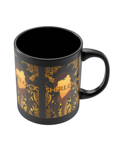 Black Coffee Mugs | Benedict Cumberbatch Sherlock Holmes Illustration Black Coffee Mug Online India