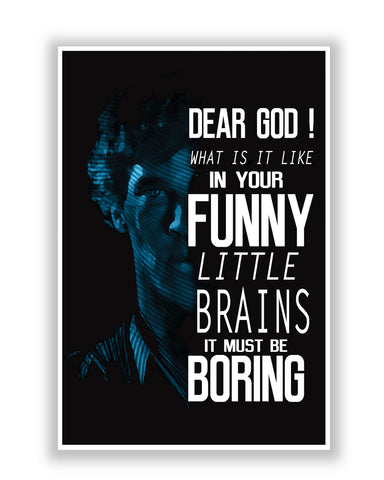 Buy TV Posters Online | Dear God! Sherlock Holmes BBC TV Series Poster | PosterGuy.in
