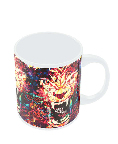 Wild And Free Quirky Tiger Illustration Coffee Mug Online India