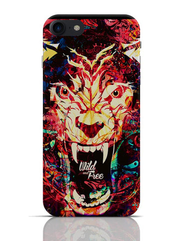 Wild And Free Quirky Tiger Illustration iPhone 7 Covers Cases Online India