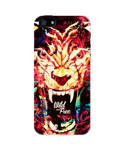 iPhone 5 / 5S Cases| Wild And Free Quirky Tiger Illustration iPhone 5 / 5S Case 1433168317 Online India