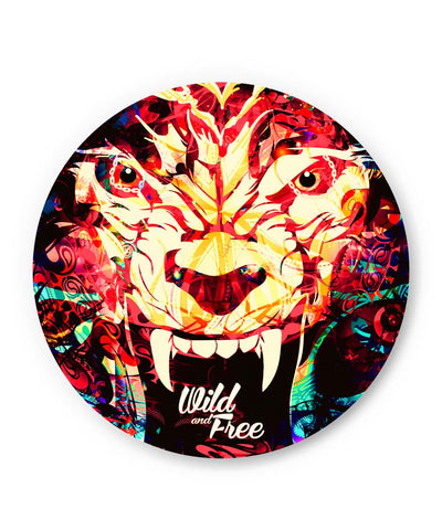 PosterGuy | Wild And Free Quirky Tiger Illustration Fridge Magnet 1433168319 Online India