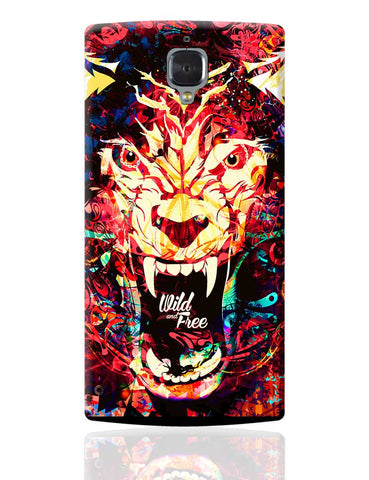 Wild And Free Quirky Tiger Illustration OnePlus 3 Cover Online India