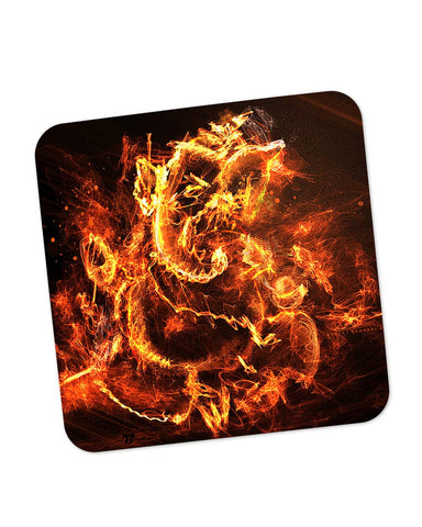 Buy Coasters Online | Ganesh Ji Religious Fury Effect Coaster Online India | PosterGuy.in