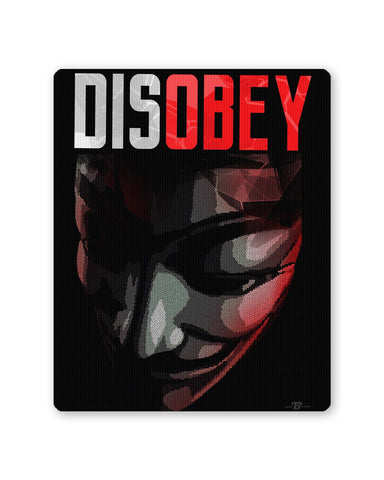 Buy Mousepads Online India | Disobey | Anonymous V For Vendetta Mouse Pad Online India