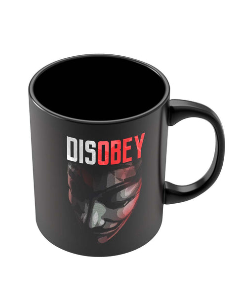 Coffee Mugs Online | Disobey | Anonymous V For Vendetta Black Coffee Mug Online India