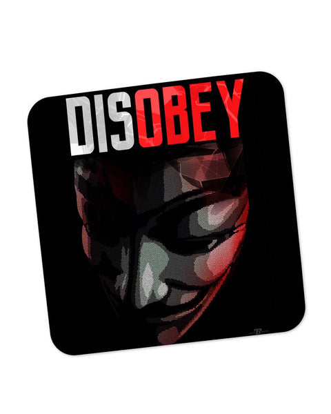 Buy Coasters Online | Disobey | Anonymous V For Vendetta Coaster Online India | PosterGuy.in