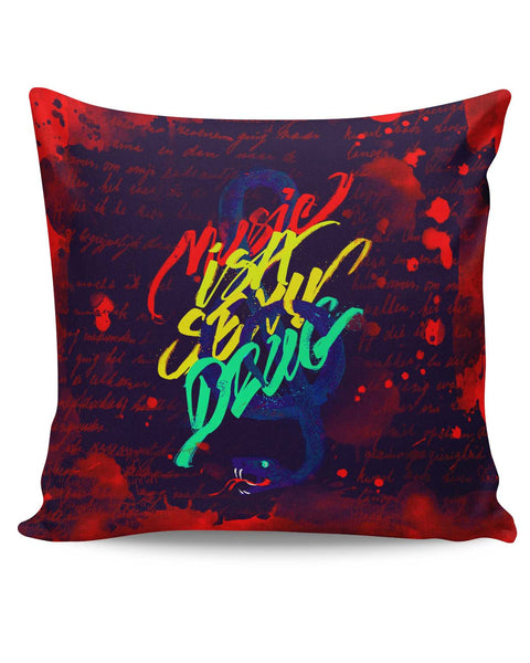 PosterGuy | Music Is A Sexy Drug Cushion Cover Online India
