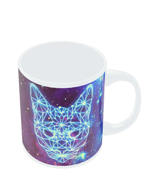 Coffee Mugs Online | Cushy Cat Universe in Sky Quirky Mug Online India