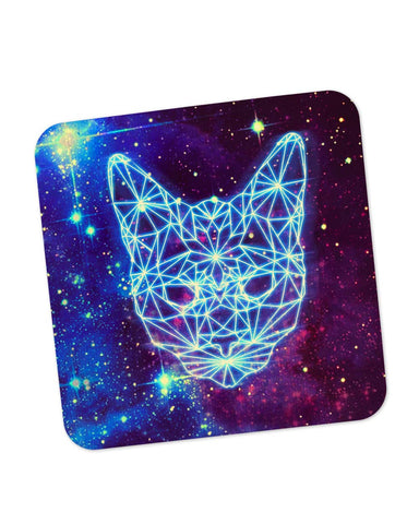 Buy Coasters Online | Cushy Cat Universe in Sky Quirky Coaster Online India | PosterGuy.in