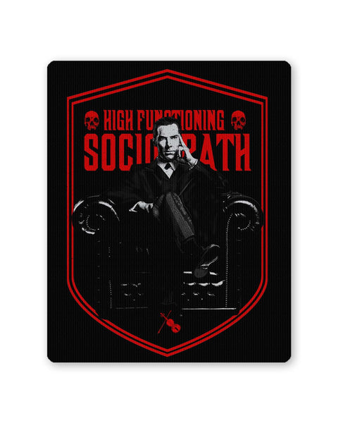 Buy Mousepads Online India | High Functioning Sociopath | BBC Sherlock Inspired Mouse Pad Online India