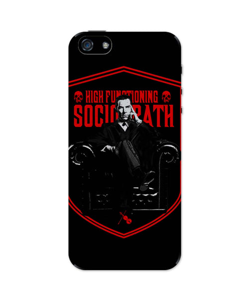 iPhone 5 / 5S Cases & Covers | High Functioning Sociopath | BBC Sherlock Inspired iPhone 5 / 5S Case Online India