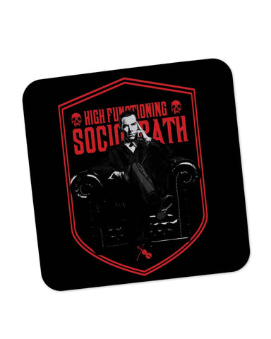 Buy Coasters Online | High Functioning Sociopath | BBC Sherlock Inspired Coaster Online India | PosterGuy.in
