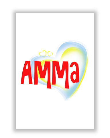 Buy Posters Online | Amma Red Mother's Day Typography Poster | PosterGuy.in