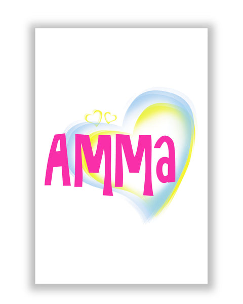 Buy Posters Online | AmmaPink Mother's Day Typography Poster | PosterGuy.in