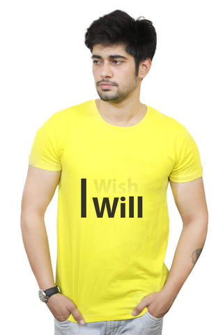 Buy Funny T-Shirts Online India | I Wish I Will Motivational T-Shirt Funky, Cool, T-Shirts | PosterGuy.in
