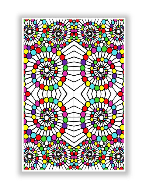 Posters | geometric swirl pattern circle art poster Online India