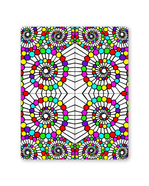 Mouse Pads | Geometric Circle Art Mouse Pad Online India | PosterGuy.in