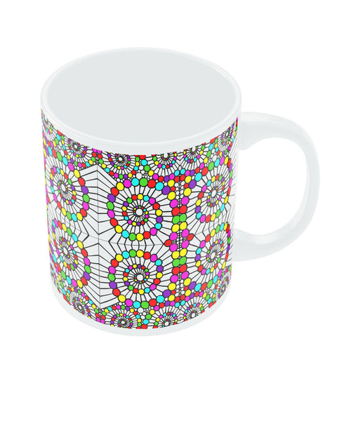 Geometric Swirl Pattern Circle Art Coffee Mug Online India