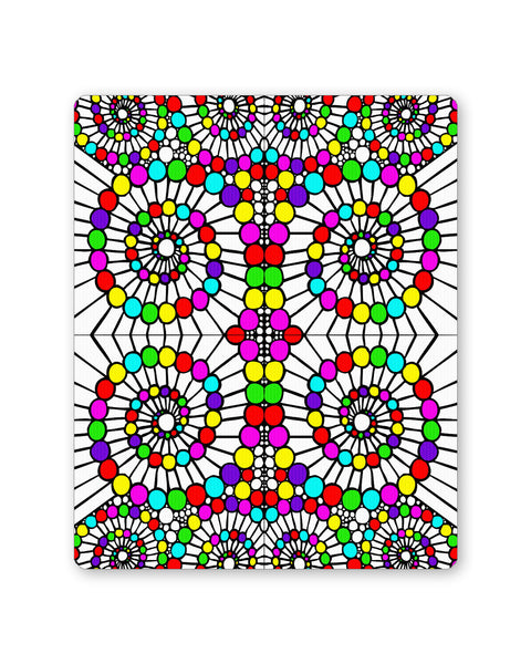 Mouse Pads | Geometric Swirl Pattern Circle Art Mouse Pad Online India | PosterGuy.in