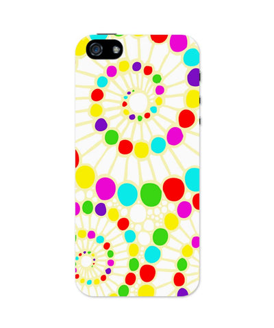 iPhone 5 / 5S Cases| Geometric Circle Art Pattern (White) iPhone 5 / 5S Case 1443178317 Online India