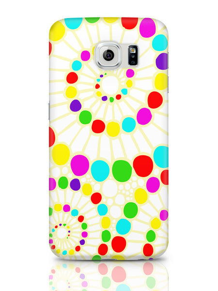 Samsung Galaxy S6 Covers & Cases | Geometric Circle Art Pattern (White) Samsung Galaxy S6 Covers & Cases Online India