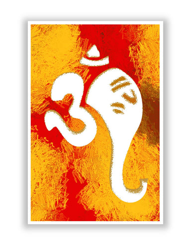Posters | Ganeshji In Om Art Illustration Poster Online India