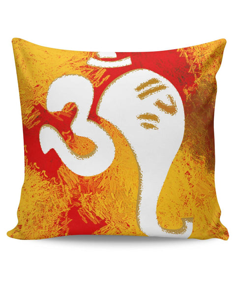 PosterGuy | Ganeshji In Om Art Illustration Cushion Cover Online India