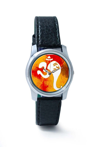 Women Wrist Watches India | Ganeshji In Om Art Illustration Wrist Watch Online India