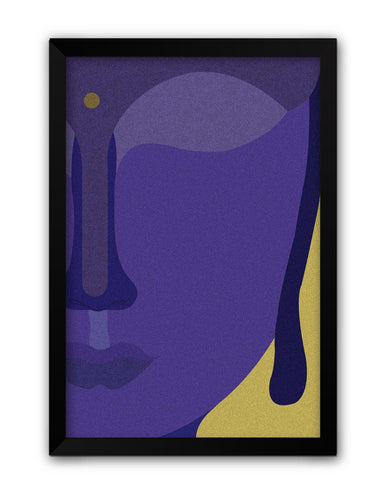 Framed Posters | Lord Buddha Blue Laminated Framed Poster Online India