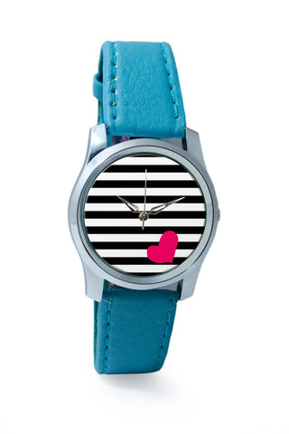 Women Wrist Watches India | Love Stripes Pattern Wrist Watch Online India
