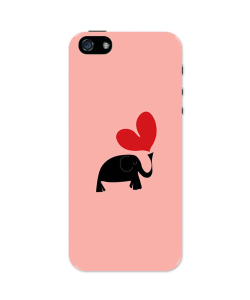 iPhone 5 / 5S Cases & Covers | The Pink Elephant Minimalist Art iPhone 5 / 5S Case Online India