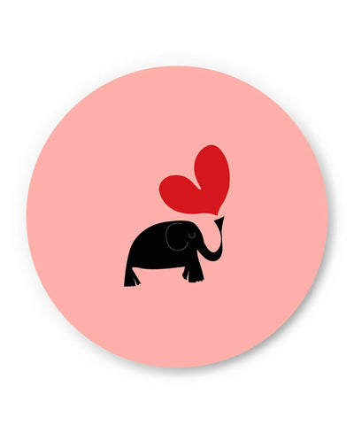 PosterGuy | The Pink Elephant Minimalist Art Fridge Magnet Online India by Shweta Paryani