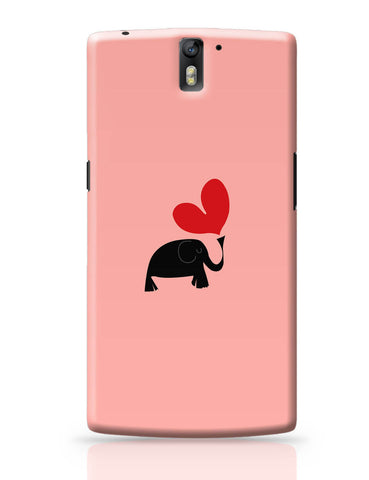 OnePlus One Covers | The Pink Elephant Minimalist Art OnePlus One Cover Online India
