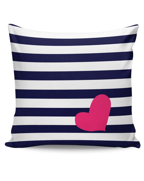 PosterGuy | Love Strip Pattern(Blue) Cushion Cover Online India