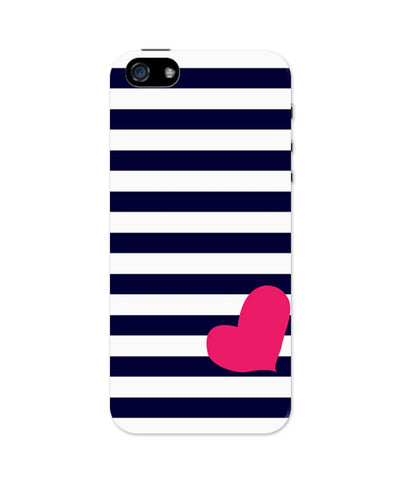 iPhone 5 / 5S Cases & Covers | Love Strip Pattern(Blue) iPhone 5 / 5S Case Online India
