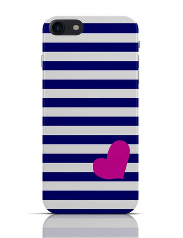 Love Strip Pattern(Blue) iPhone 7 Covers Cases Online India
