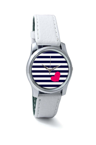 Women Wrist Watches India | Love Strip Pattern(Blue) Wrist Watch Online India