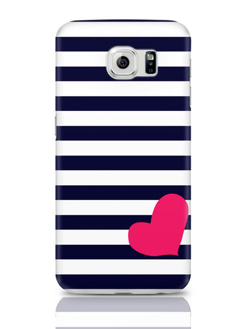 Samsung Galaxy S6 Covers & Cases | Love Strip Pattern(Blue) Samsung Galaxy S6 Covers & Cases Online India