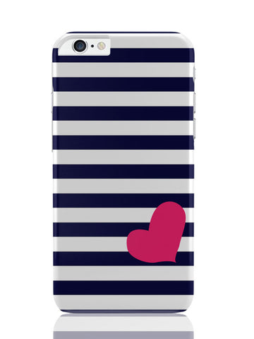 iPhone 6 Plus / 6S Plus Covers & Cases | Love Strip Pattern(Blue) iPhone 6 Plus / 6S Plus Covers and Cases Online India