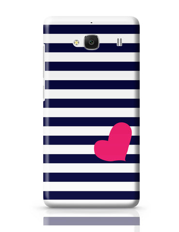 Xiaomi Redmi 2 / Redmi 2 Prime Cover| Love Strip Pattern(Blue) Redmi 2 / Redmi 2 Prime Cover Online India