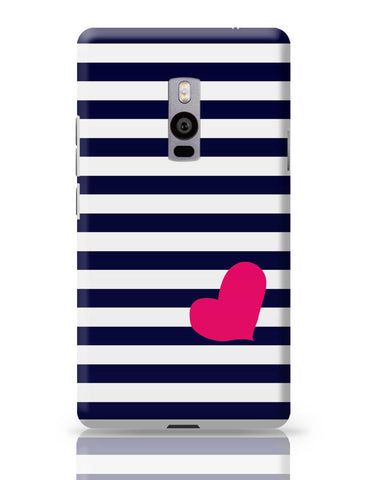 OnePlus Two Covers | Love Strip Pattern(Blue) OnePlus Two Cover Online India