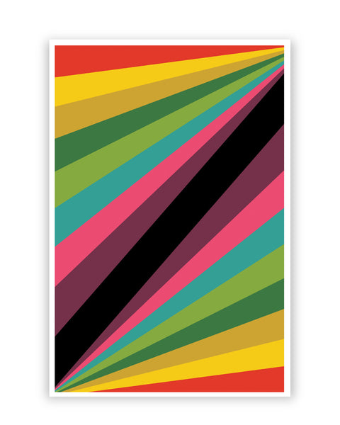 Posters Online | Abstract Art Pattern Multicolored Poster Online India | Designed by: Shweta Paryani