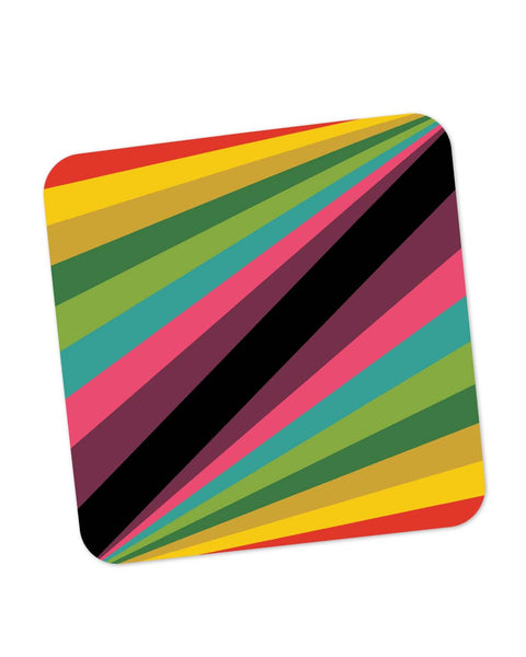 Buy Coasters Online | Abstract Art Pattern Multicolored Coaster Online India | PosterGuy.in