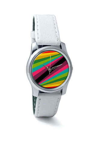Women Wrist Watch India | Abstract Art Pattern Multicolored Wrist Watch Online India