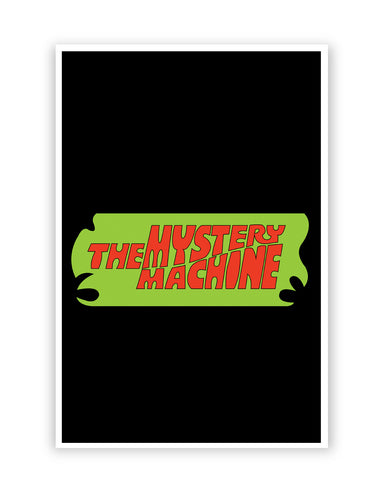 Posters Online | The Mystery Machine (Black) Poster Online India | Designed by: Shweta Paryani