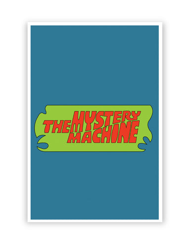 Posters Online | The Mystery Machine (Blue) Poster Online India | Designed by: Shweta Paryani