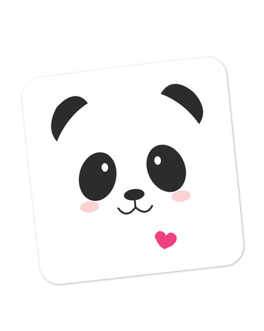 Buy Coasters Online | Cute Panda Minimalist Coaster Online India | PosterGuy.in